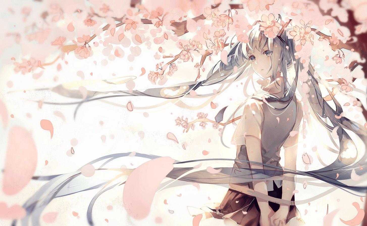 如雪花般飞舞的花瓣。